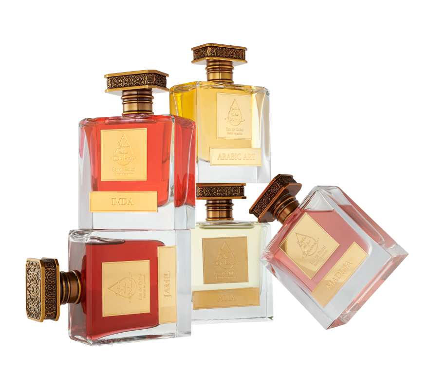 Eau de Dubai Jamil Madina Alia Arabic Art Imda Fragrances Set